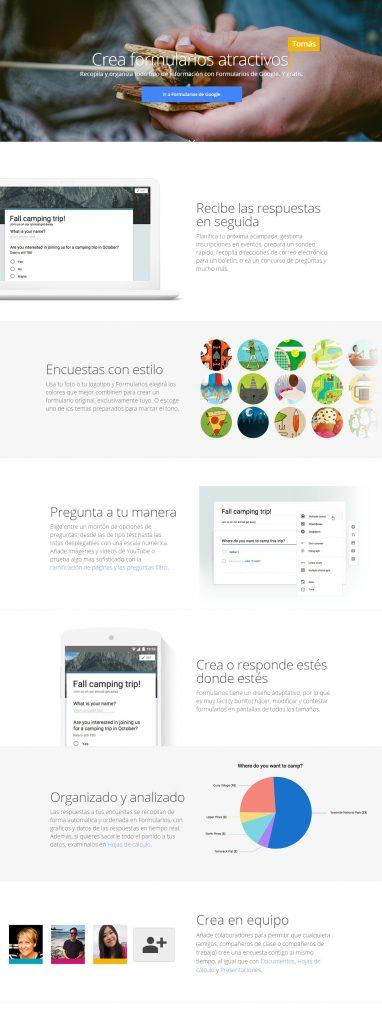 captura de pantalla google-forms-para-retener-clientes-lealtad-de-clientes